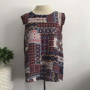Papermoon by Stitch Fix Bohemian Short Sleeve Top